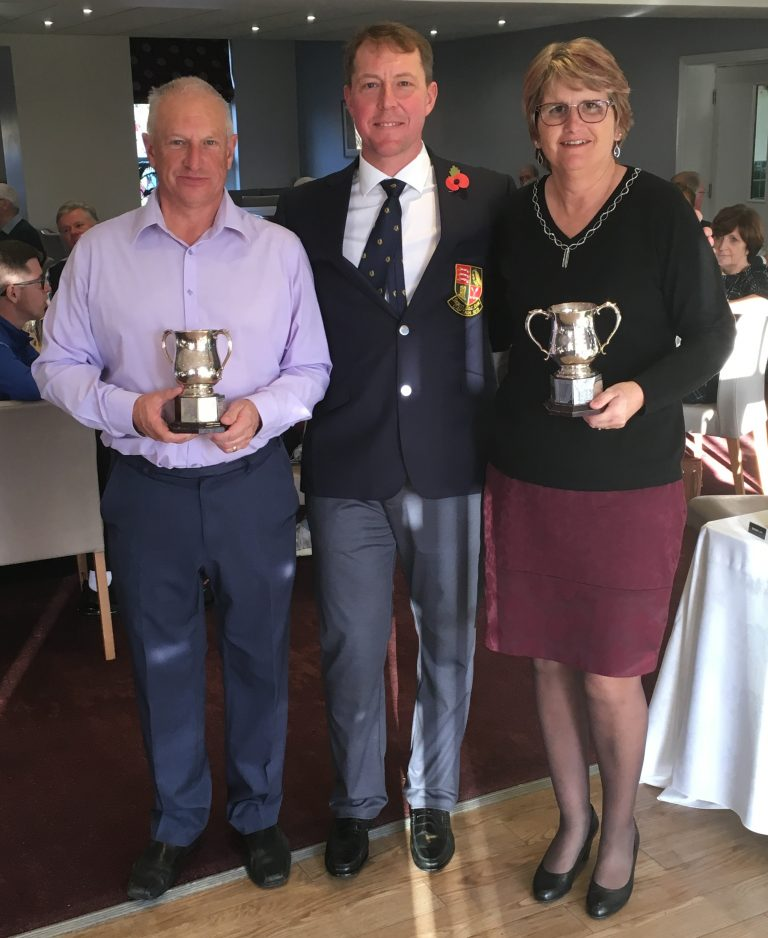 2018 Greensome Trophy winners- Lesley and Colin Johnson